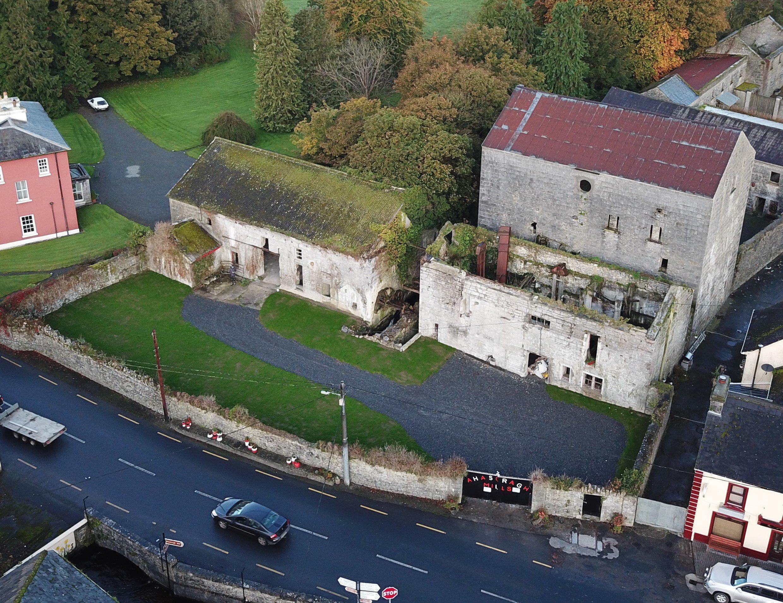 Ahascragh Mills Aerial Photo - Visit Galway