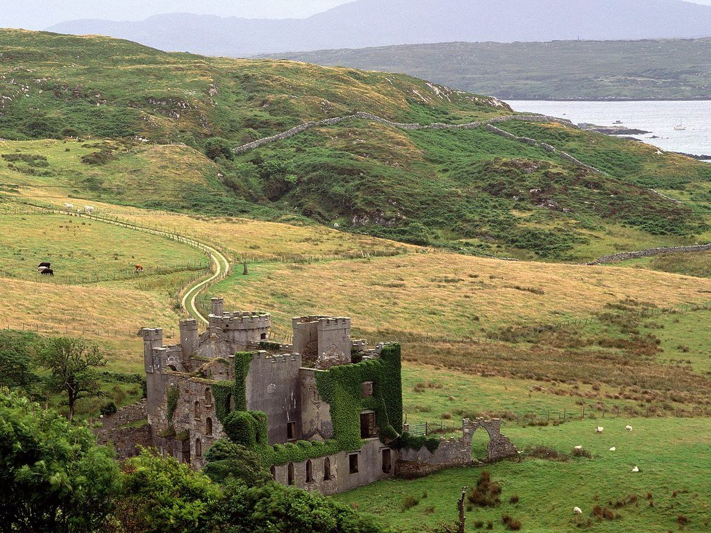 Clifden Castle From Sky Road - Visit Galway