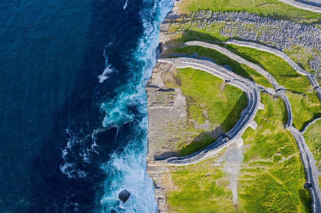 Dún Aonghasa Top Down - Visit Galway